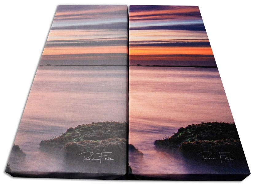 comparatif canvas - sublimation