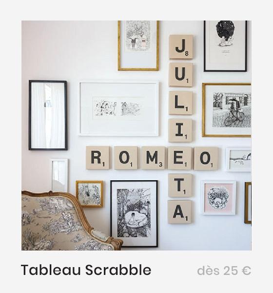 Tableau lettres géantes de Scrabble