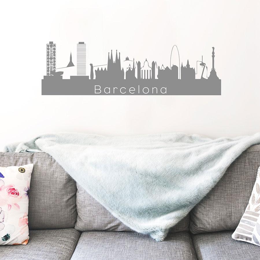 skyline décoratif ville de Barcelone