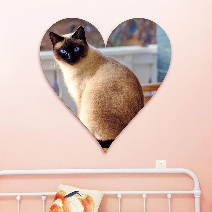 tableau decoupe en forme de coeur