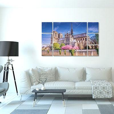 Tableau Notre Dame multi panneaux paysage